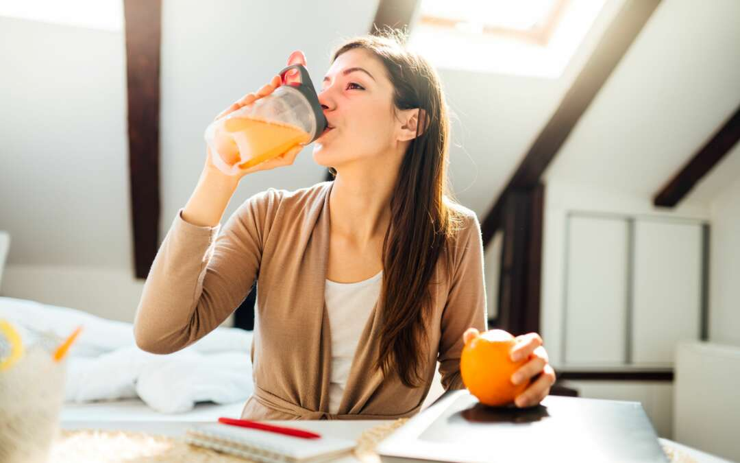 immunstärkendes Essen und Trinken – vor allem jetzt im Home-Office